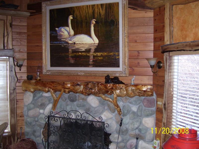 Fireplace Mantel log fireplace mantels : Rustic Fireplace Mantles